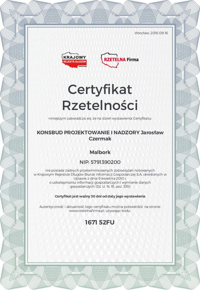 certyfikat-rzetelnosci-konsbud-p-jaroslaw-czermak